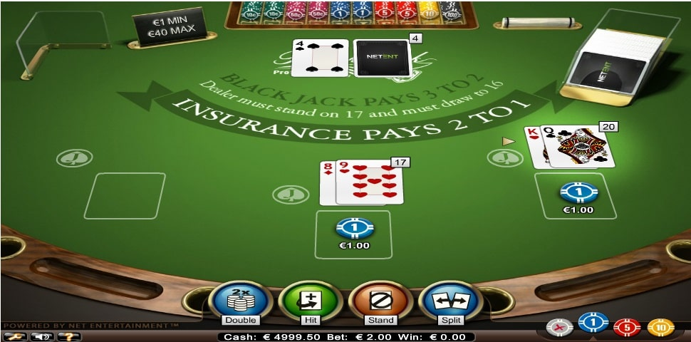 blackjack professional series standard limit mobil