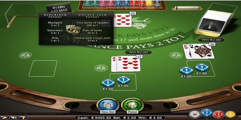 blackjack professional series standard limit spielautomat