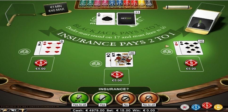 blackjack professional series standard limit frei