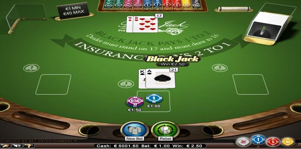 blackjack professional series standard limit