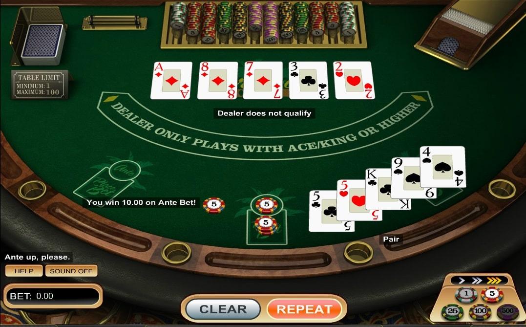 caribbean poker online
