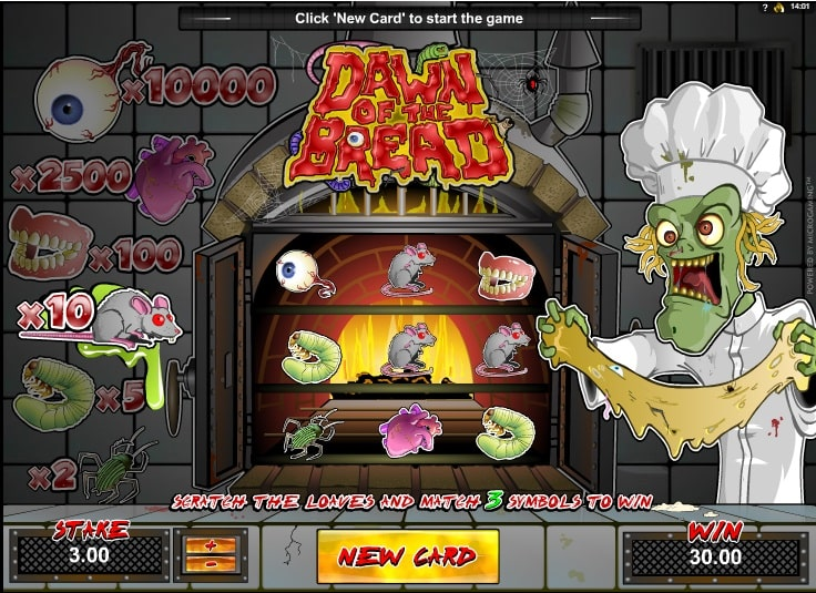 Play Dawn Of The Bread Video Slot Free