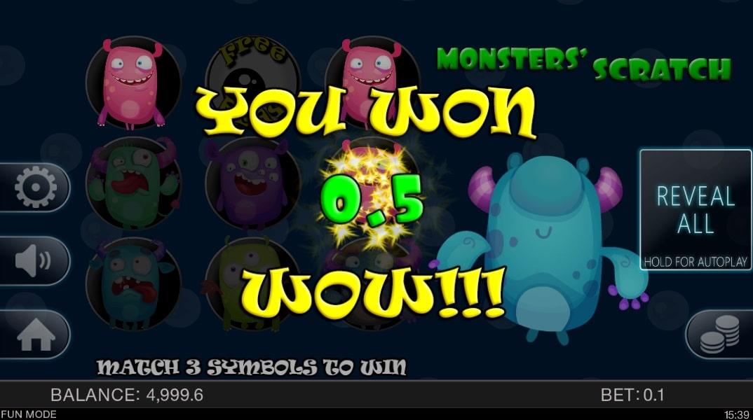Monsters Scratch Slot Machine
